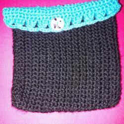 Pochette pour protéger vos oracles ou tarots, fait main coton + laine. Fabrication artisanale, modèles uniques, neuf.