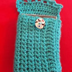 Pochette pour protéger vos oracls ou tarots, fait main coton + laine. Fabrication artisanale, modèles uniques, neuf.